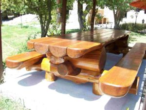садовая мебель из термодревесины woodthermo