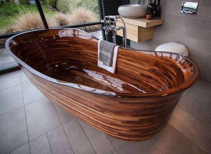 изделие ванна из термодревесины